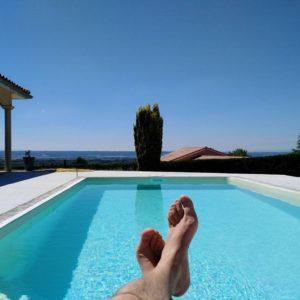 Belle piscine à Revel-Tourdan